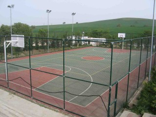 A basketball court near Istanbul, Turkey.