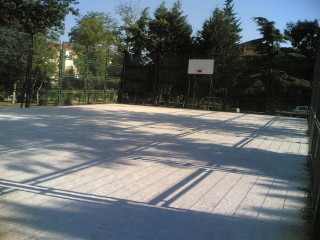Basketball in a park in Istanbul, Turkey.
