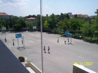 Two full courts at a school in Edirne, Turkey.