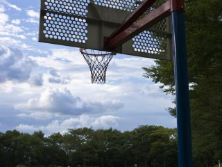 Basketball court in the North Park of Inagi City.