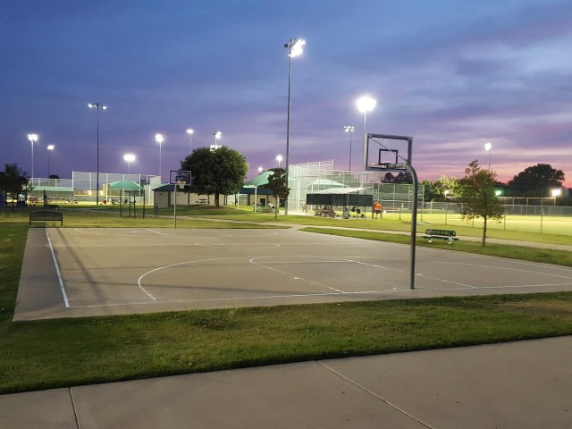 Full court - night