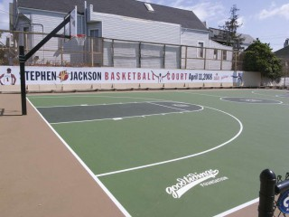 The new basketball court at Minnesota Street.