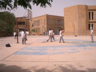 Basketball at the City School in Karachi, Pakistan.