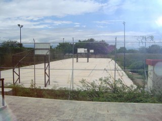 Basketball court in El Chino, Puerto Vallarta.
