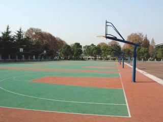 Basketball courts in Wuhan.