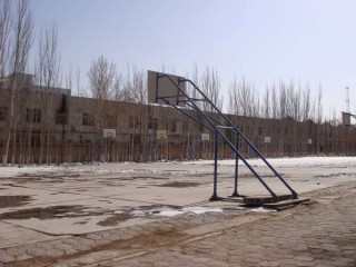 Basketball courts in China.