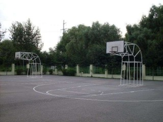 Basketball courts at Yucai Foreign Language School.