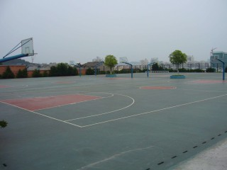 Basketball courts in Yichang, China.