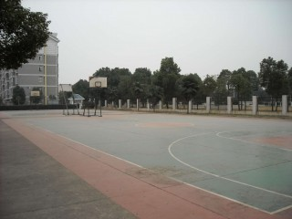 Basketball in Wuhan, China.