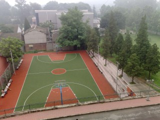 Beatiful basketball court at the CAF in Beijing, China.