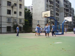 High School basketball in Shenzhen, China.