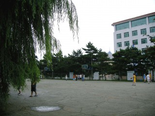 Profile of the basketball court Institute of Technology, Changchun, China