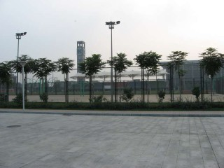 Basketball courts in Beijing, China.