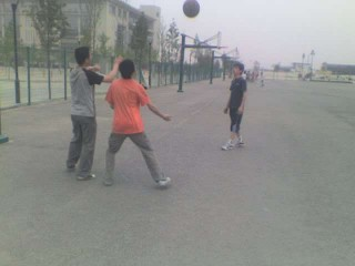 Basketball courts in Xi'an, China.