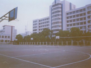 The basketball courts at University of Science and Technology in Changsha, China.