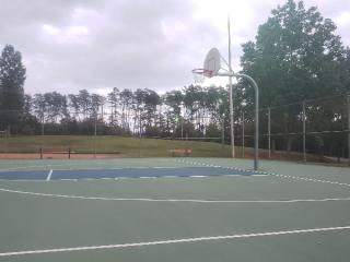 Profile of the basketball court Watts Park, Greenville, SC, United States