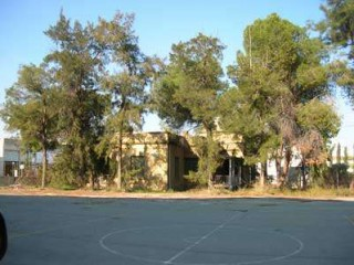 The basketball court at  Melkonian Institute, Cyprus.
