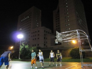 Profile of the basketball court Wenshan Riverside Courts, Taipei, Taiwan
