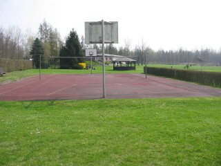 The basketball court at Zieselsmaar in Kerpen, Germany.