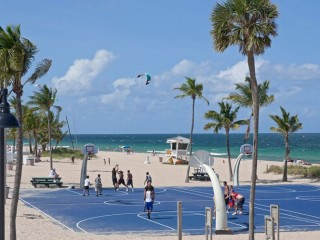Basketball Court at South Beach Park recreational area