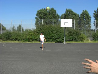 The public streetball court at Elfrather See in Krefeld.
