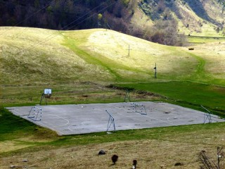 A basketball court in Veruša, Montenegro.