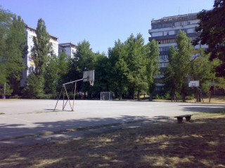 Profile of the basketball court Fontana Block 1, Belgrade, Serbia