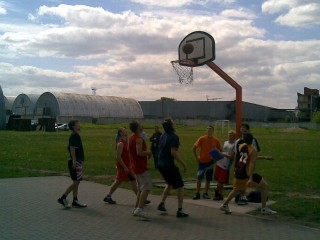 A game of basketball in Riga, Latvia.
