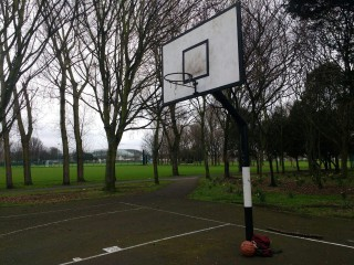 Profile of the basketball court Ringsend Park, Dublin, Ireland