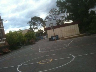 Profile of the basketball court Albert Park Primary, St Kilda, Australia