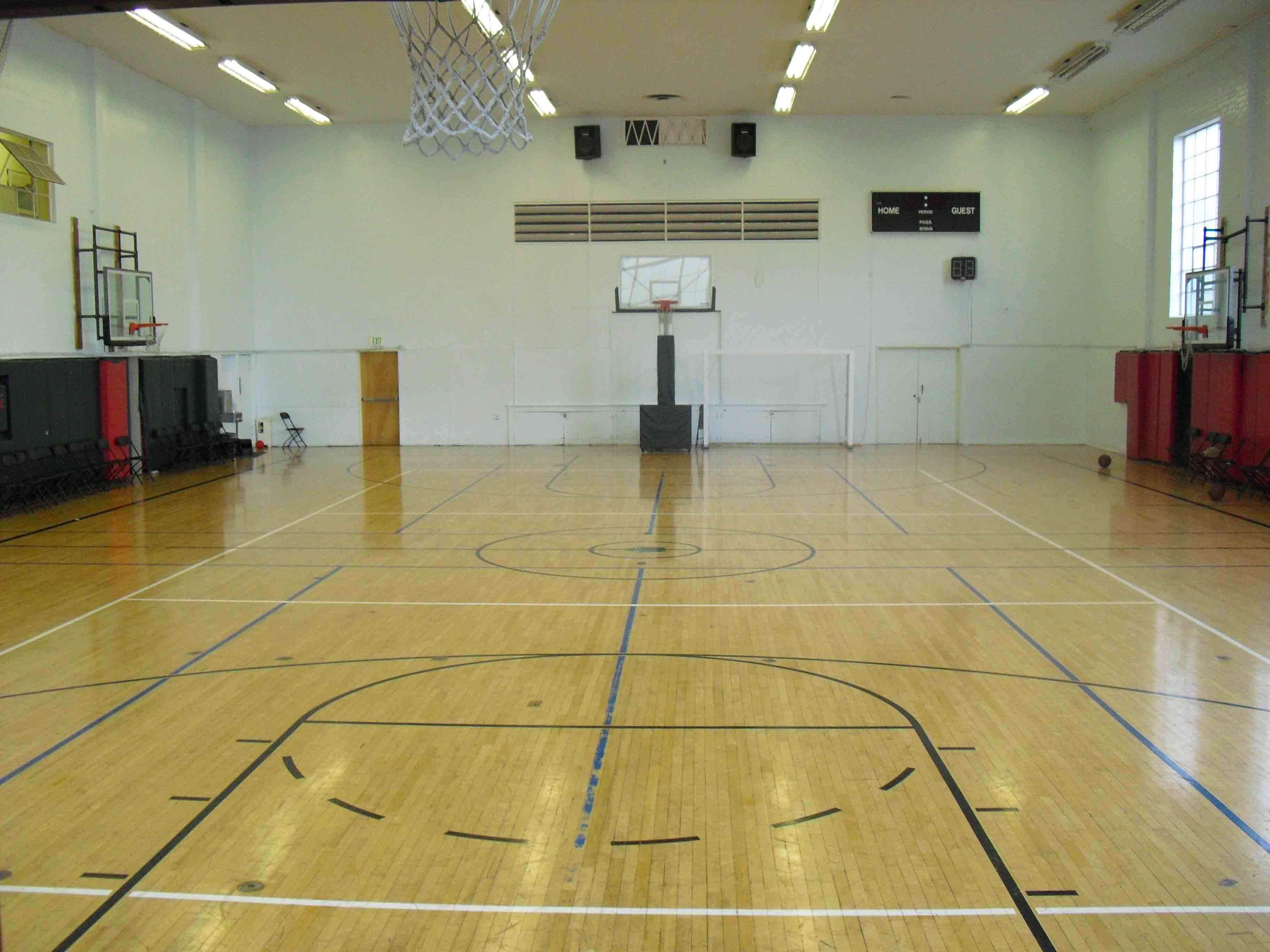 Basketball court for Building indoor basketball court